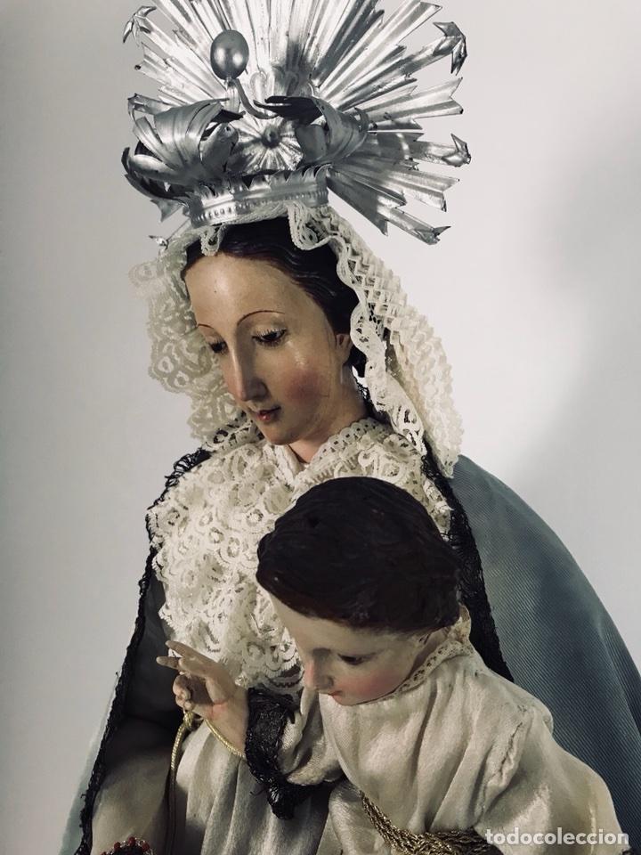Arte: Virgen de gloria Cap i pota, virgen de madera, talla en madera - Foto 3 - 68569485