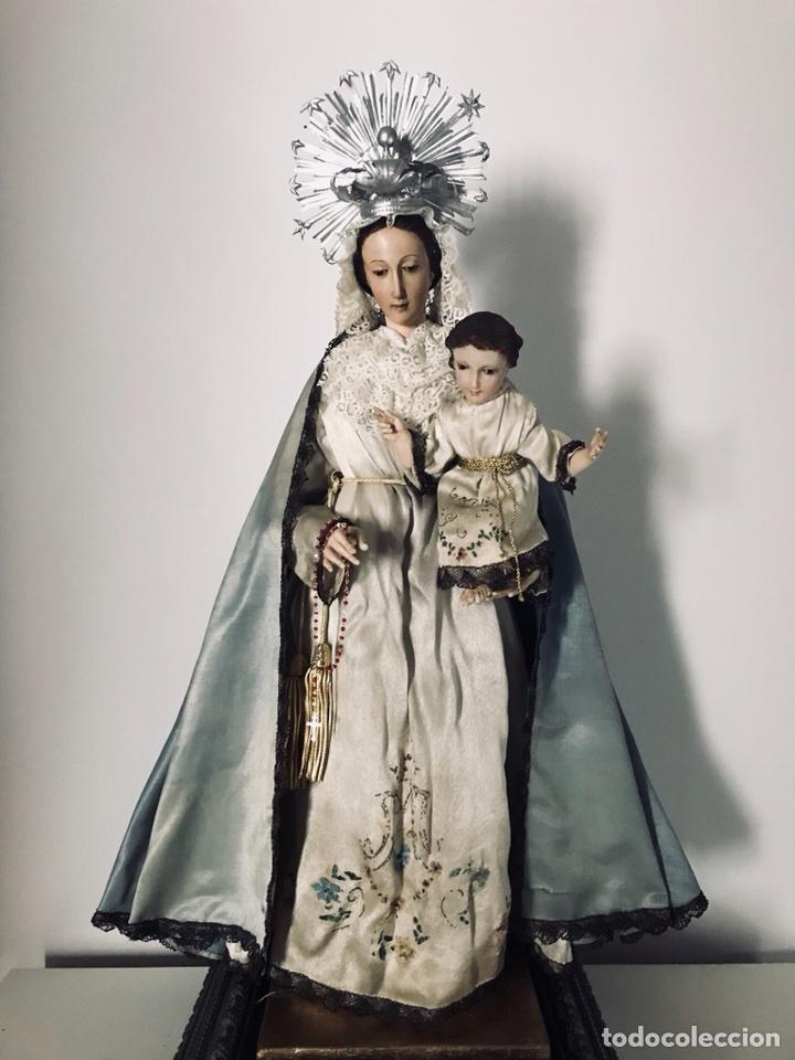 Arte: Virgen de gloria Cap i pota, virgen de madera, talla en madera - Foto 4 - 68569485
