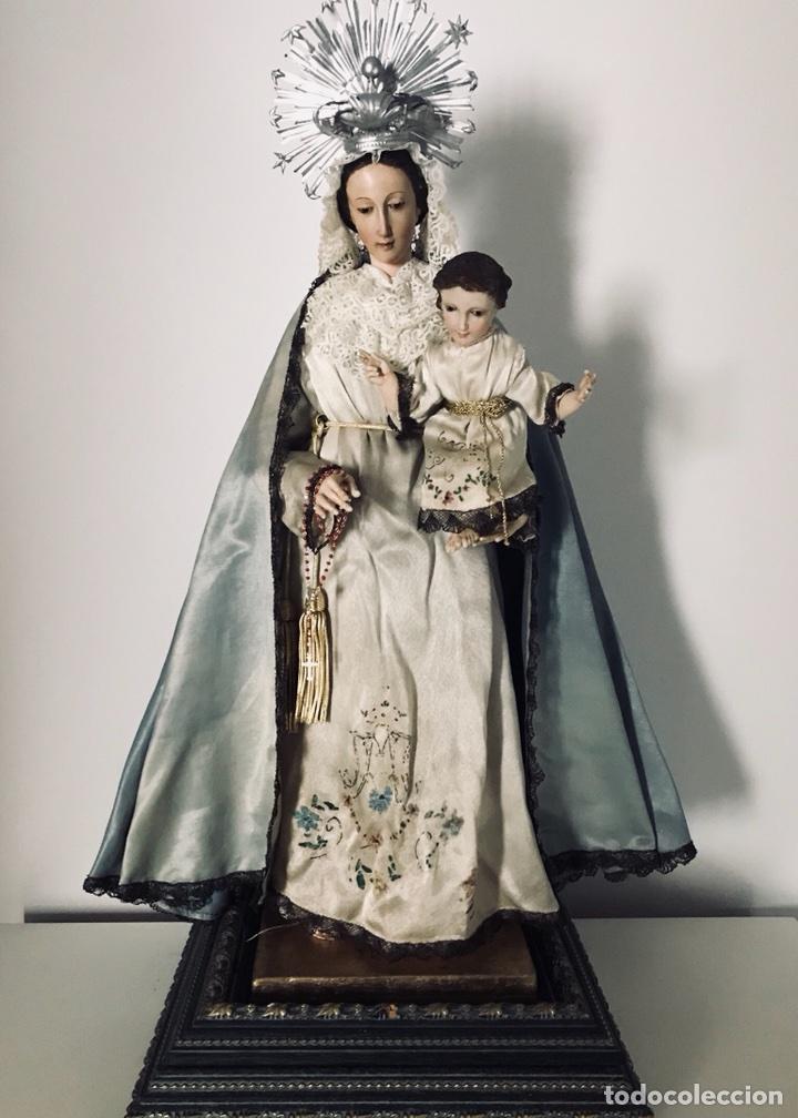 Arte: Virgen de gloria Cap i pota, virgen de madera, talla en madera - Foto 5 - 68569485