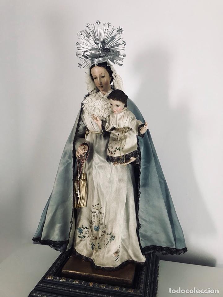 Arte: Virgen de gloria Cap i pota, virgen de madera, talla en madera - Foto 8 - 68569485
