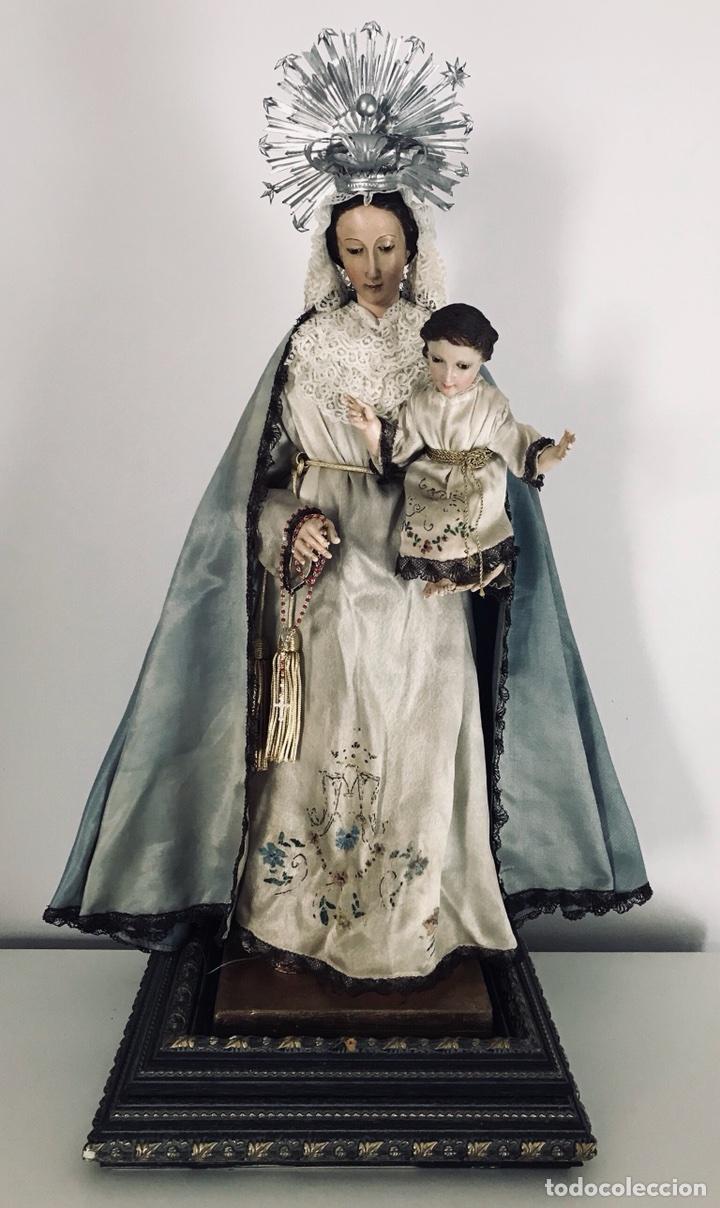 Arte: Virgen de gloria Cap i pota, virgen de madera, talla en madera - Foto 9 - 68569485