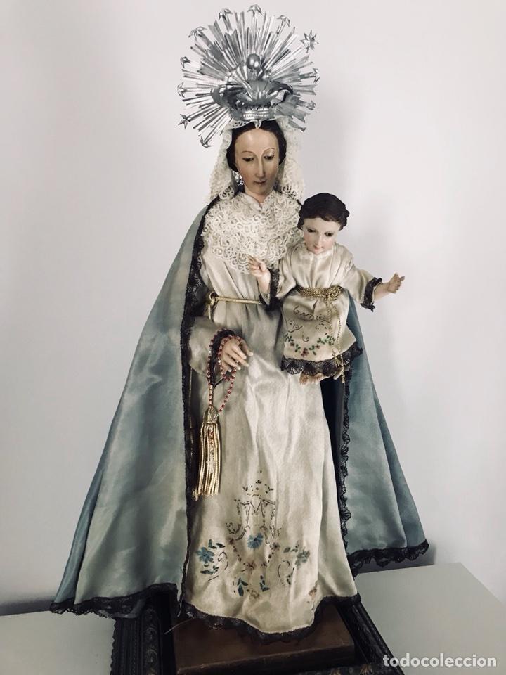 Arte: Virgen de gloria Cap i pota, virgen de madera, talla en madera - Foto 10 - 68569485