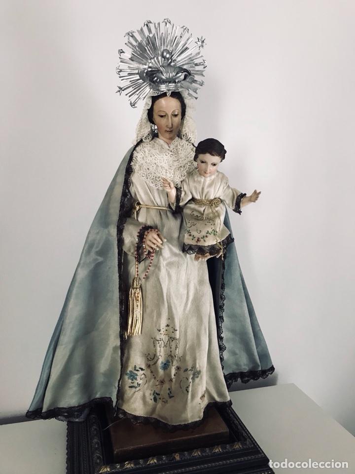 Arte: Virgen de gloria Cap i pota, virgen de madera, talla en madera - Foto 11 - 68569485