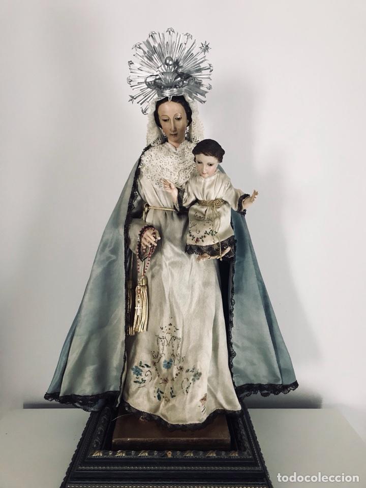 Arte: Virgen de gloria Cap i pota, virgen de madera, talla en madera - Foto 12 - 68569485