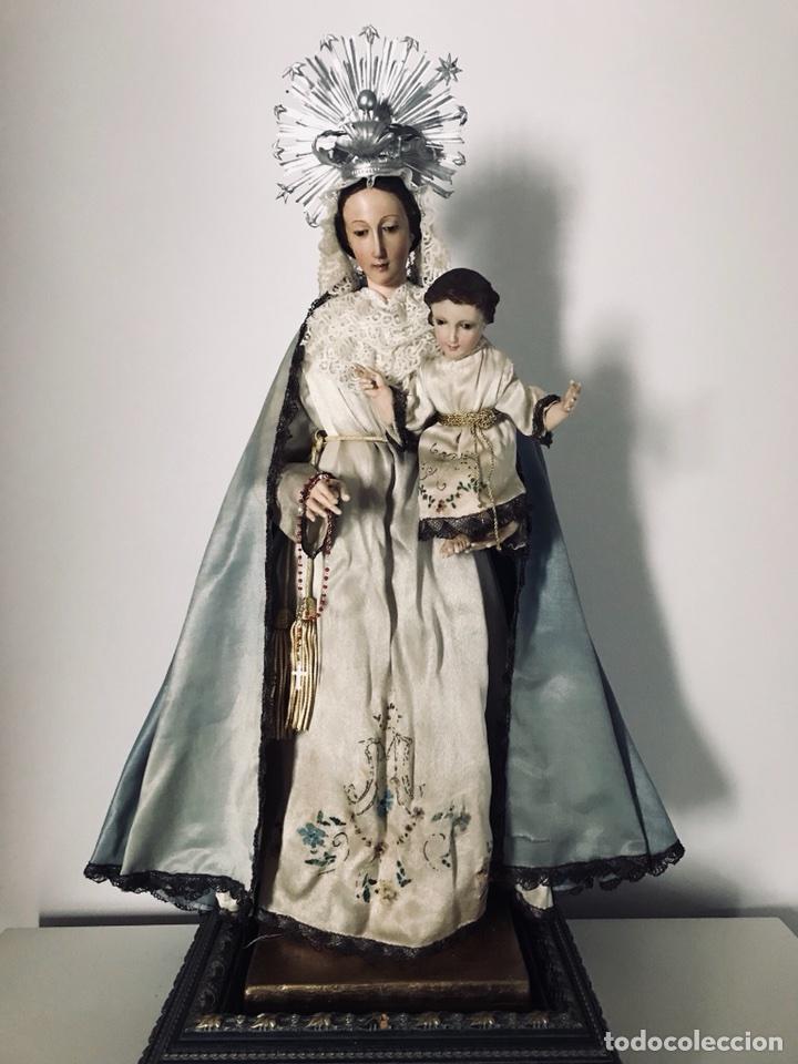 Arte: Virgen de gloria Cap i pota, virgen de madera, talla en madera - Foto 13 - 68569485