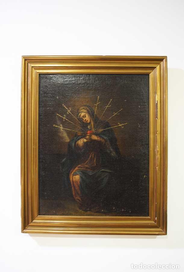 ÓLEO SOBRE LIENZO VIRGEN DOLOROSA (Arte - Arte Religioso - Pintura Religiosa - Oleo)