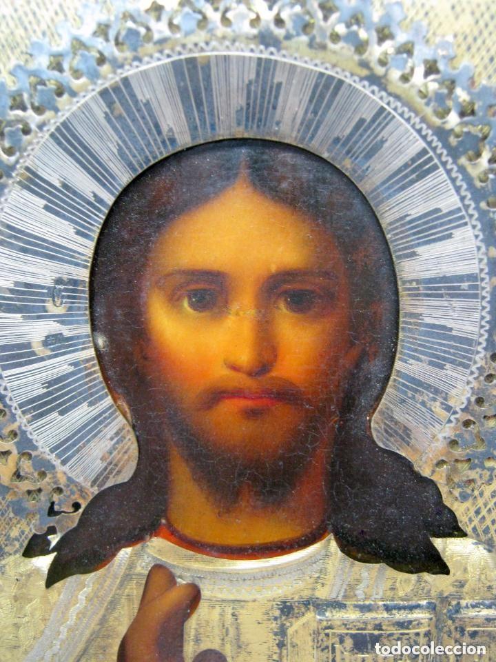 Arte: IMPORTANTE ICONO RUSO KOKOSHNIK . C. 1900 ANTIGUO PLATA ORO sello 84 - Foto 5 - 116958631
