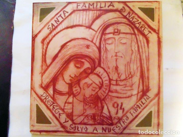 Arte: LITOGRAFIA RELIGIOSA PEGADA SOBRE TABLA - SANTA FAMILIA DE NAZARET-1994. ILUSTRA Kiko Arguello.TAMAÑ - Foto 3 - 116959631