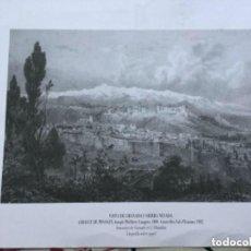 Arte: COPIA LITOGRAFÍA VISTA DE GRANADA Y SIERRA NEVADA. Lote 116977119