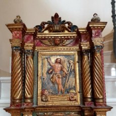 Arte: DE MUSEO,LA RESURRECCION DE CRISTO,PUERTA DE SAGRARIO ESTOFADA Y DORADA,ESPAÑA,S. XVII. Lote 117034191