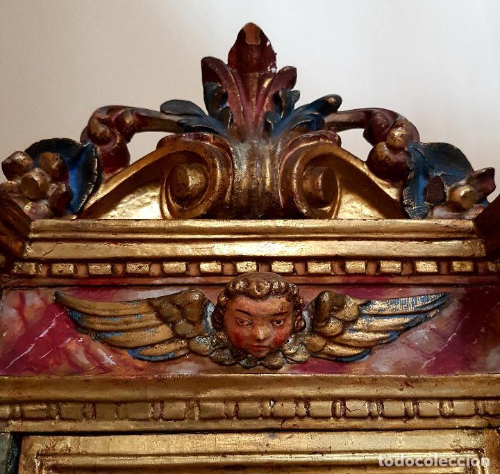 Arte: DE MUSEO,LA RESURRECCION DE CRISTO,PUERTA DE SAGRARIO ESTOFADA Y DORADA,ESPAÑA,S. XVII - Foto 3 - 117034191