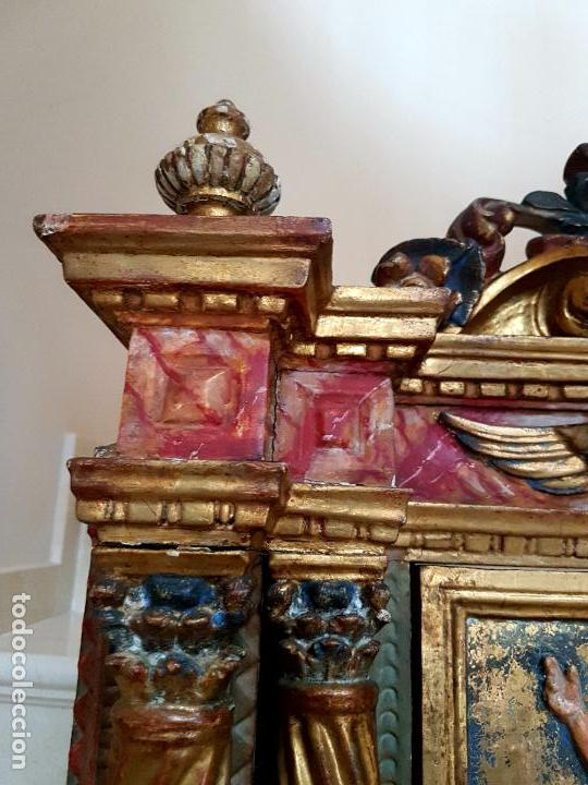 Arte: DE MUSEO,LA RESURRECCION DE CRISTO,PUERTA DE SAGRARIO ESTOFADA Y DORADA,ESPAÑA,S. XVII - Foto 22 - 117034191