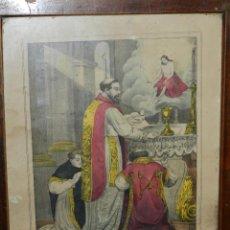 Arte: (M) GRABADO S.XIX SAN GREGORIO , PAPA . LIT. VIUDA MITJANA, MALAGA 42 X 33 CM, ENMARCADO. Lote 117046903