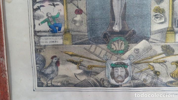 Arte: INTERESANTE LITOGRAFIA COLOREADA. CRISTO DE ZALAMEA. ELCHE. SIGLO XIX - Foto 8 - 117159247