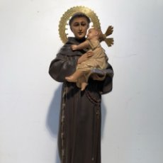 Arte: SAN ANTONIO DE ESTUCO ANTIGUO MODELO OLOT. 32CM.. Lote 117186571