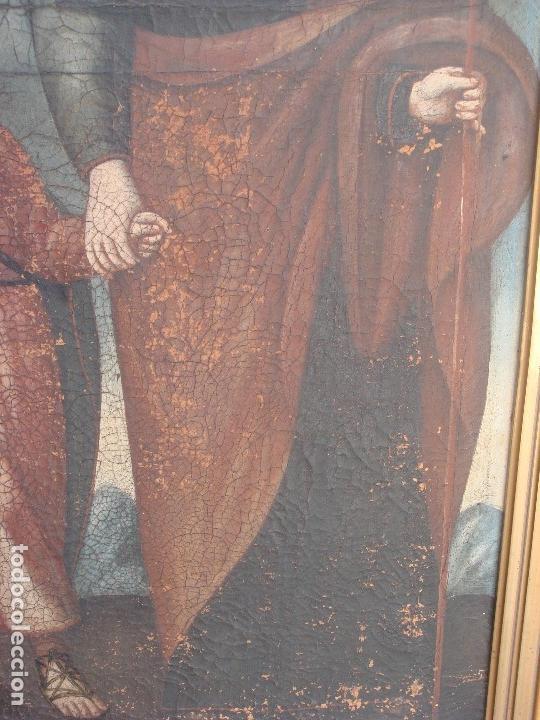 Arte: ANTIGUA PINTURA DE LA SAGRADA FAMILIA. O/L. FIRMADO GERONIMO BONETE. S/XVII - XVIII - Foto 7 - 117198303