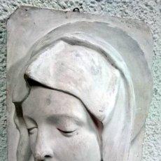 Arte: ESPECTACULAR ESCULTURA DE ESCAYOLA DE LA VIRGEN MARÍA. ESCULTOR NAVARRETE, FIRMADA.. Lote 117293407