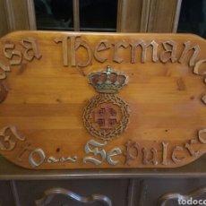 Arte: ALMERÍA SEMANA SANTA HERMANDAD SANTO SEPULCRO RELIEVE EN MADERA 70X40 CMS. Lote 118816724