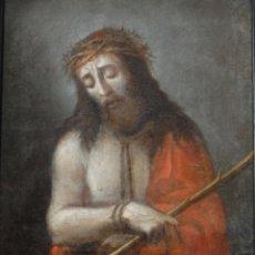 Arte: ECCE HOMO. OLEO SOBRE LIENZO. ESCUELA ESPAÑOLA. SIGLO XVII.. Lote 117399743