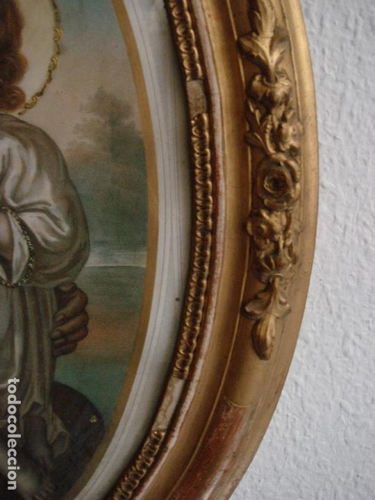 Arte: ANTIGUA Y MAGNIFICA REPRODUCCION DE SAN JOSE CON NIÑO JESUS.ENMARCADO ORIGINAL DE EPOCA. FINAL S.XIX - Foto 6 - 117515555