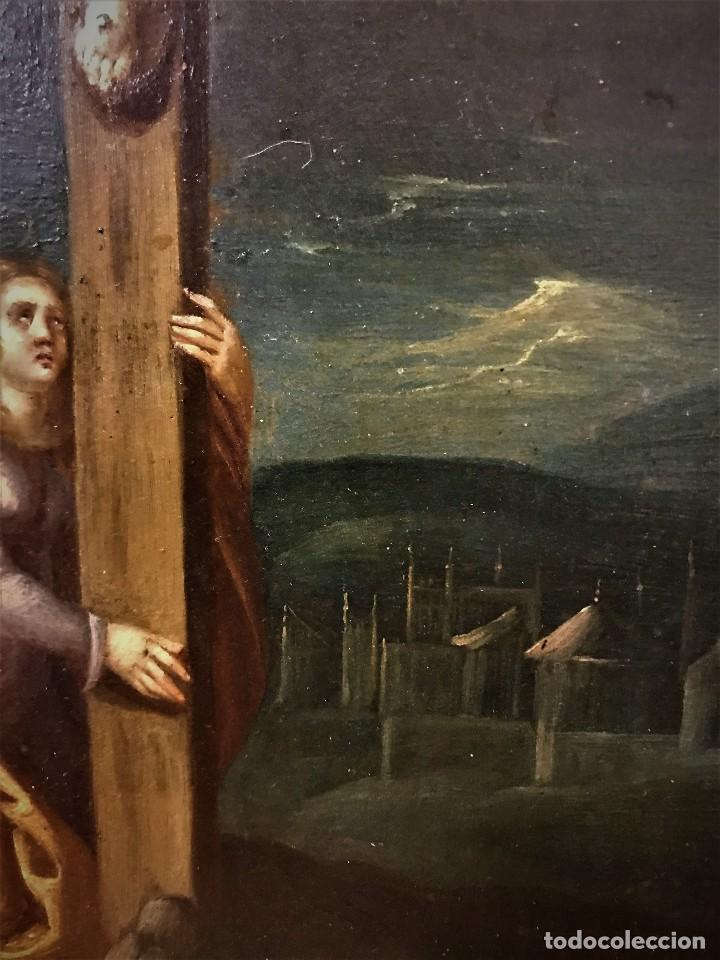 Arte: CRUCIFICADO CON MAGDALENA, OLEO SOBRE COBRE S. XVII, ESC. HISPANO FLAMENCA - Foto 15 - 117555303
