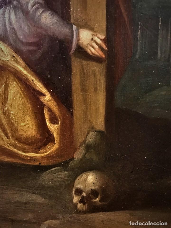 Arte: CRUCIFICADO CON MAGDALENA, OLEO SOBRE COBRE S. XVII, ESC. HISPANO FLAMENCA - Foto 17 - 117555303