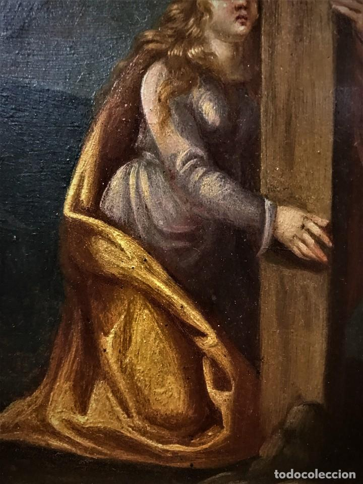 Arte: CRUCIFICADO CON MAGDALENA, OLEO SOBRE COBRE S. XVII, ESC. HISPANO FLAMENCA - Foto 18 - 117555303