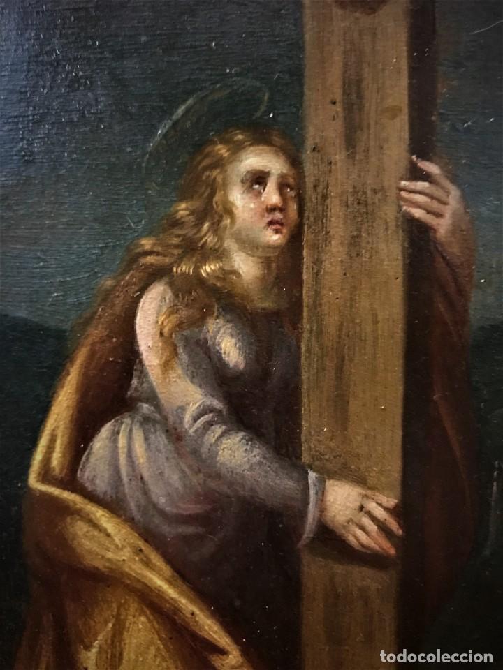 Arte: CRUCIFICADO CON MAGDALENA, OLEO SOBRE COBRE S. XVII, ESC. HISPANO FLAMENCA - Foto 19 - 117555303