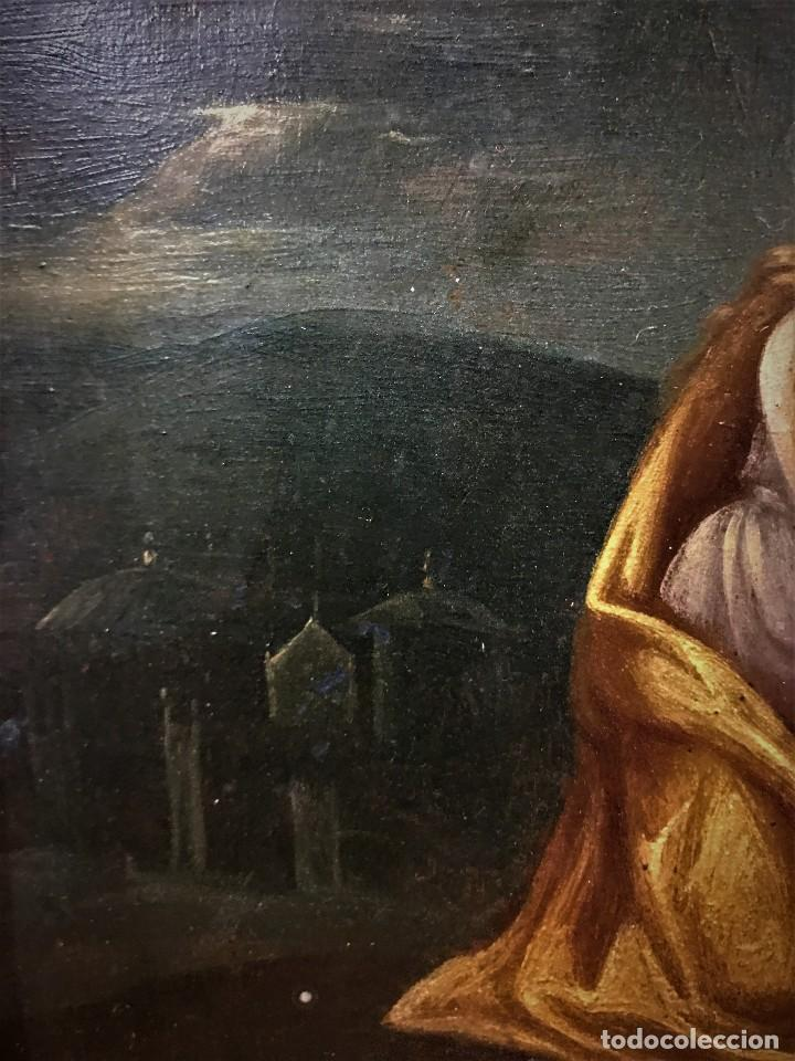 Arte: CRUCIFICADO CON MAGDALENA, OLEO SOBRE COBRE S. XVII, ESC. HISPANO FLAMENCA - Foto 21 - 117555303