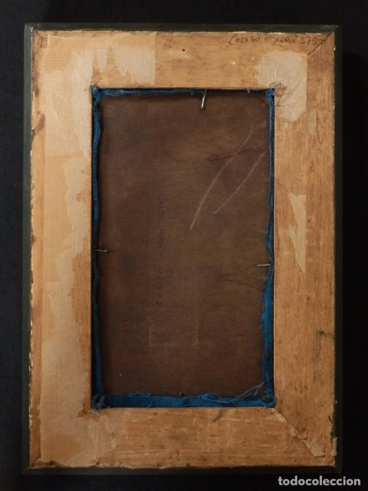 Arte: Santa Bárbara. Relieve en madera tallada y policromada. 17,5 cm. Hacia 1900. - Foto 8 - 117582147