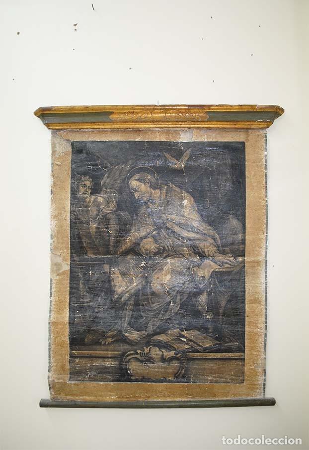 Arte: ANTIGUO PERGAMINO RELIGIOSO S. GREGORUIUS - Foto 2 - 117616287