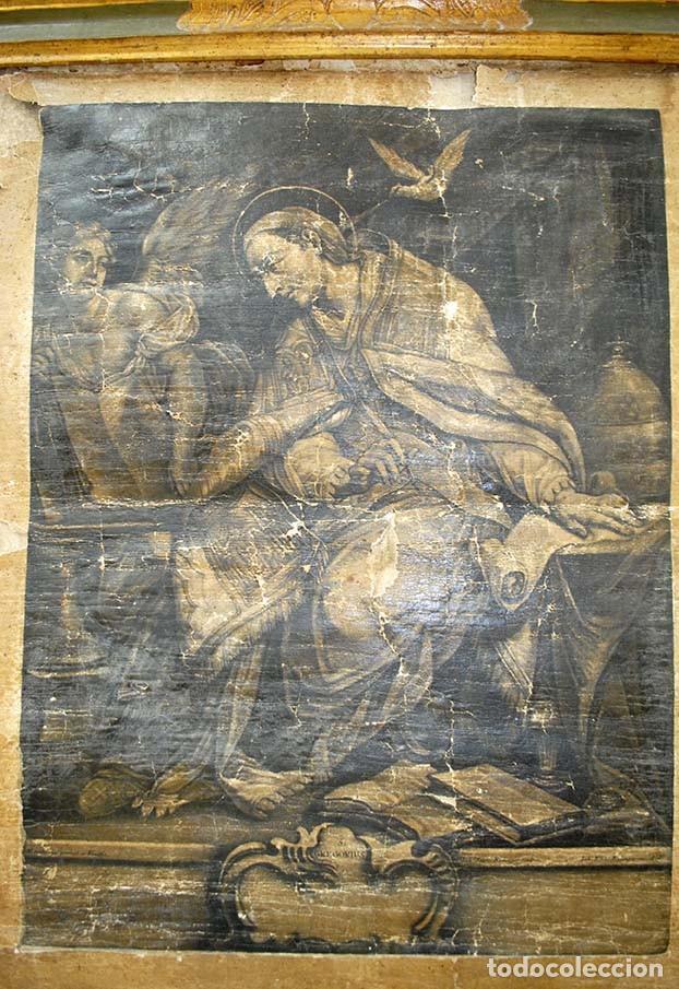 Arte: ANTIGUO PERGAMINO RELIGIOSO S. GREGORUIUS - Foto 3 - 117616287