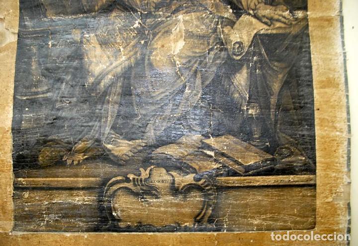 Arte: ANTIGUO PERGAMINO RELIGIOSO S. GREGORUIUS - Foto 5 - 117616287