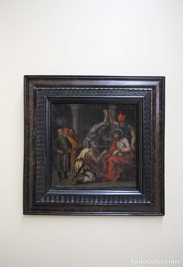 MAGNÍFICA PINTURA RELIGIOSA SOBRE PLANCHA DE COBRE (Arte - Arte Religioso - Pintura Religiosa - Otros)