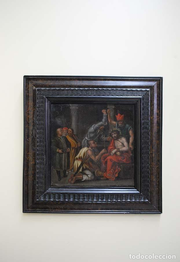 Arte: MAGNÍFICA PINTURA RELIGIOSA SOBRE PLANCHA DE COBRE - Foto 2 - 117618047
