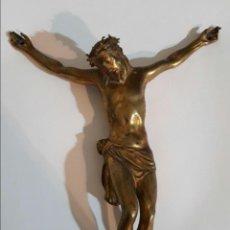 Arte: FANTÁSTICO Y DE MUCHA CALIDAD CRISTO DE BRONCE DORADO A LA CERA PERDIDA SIGLO XVIII.. Lote 117625460