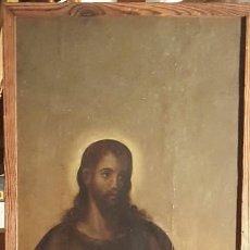 Arte: PAREJA DE OLEOS SOBRE TABLA, ESCUELA VALENCIANA SAN PEDRO Y SAN JUAN, S.XVI - 146X49CM. Lote 117642439