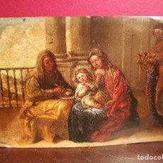 Arte: LA SAGRADA FAMILIA CON SANTA ANA. COBRE ATRIBUIDO A ANTONIO DE PEREDA. . Lote 117757511