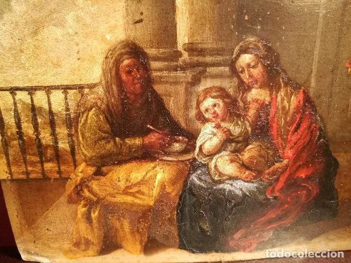 Arte: LA SAGRADA FAMILIA CON SANTA ANA. COBRE ATRIBUIDO A ANTONIO DE PEREDA. - Foto 3 - 117757511