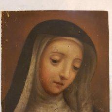 Arte: ÓLEO SOBRE COBRE DE SANTA TERESA DE JESÚS. SIGLO XVIII. Lote 117867939