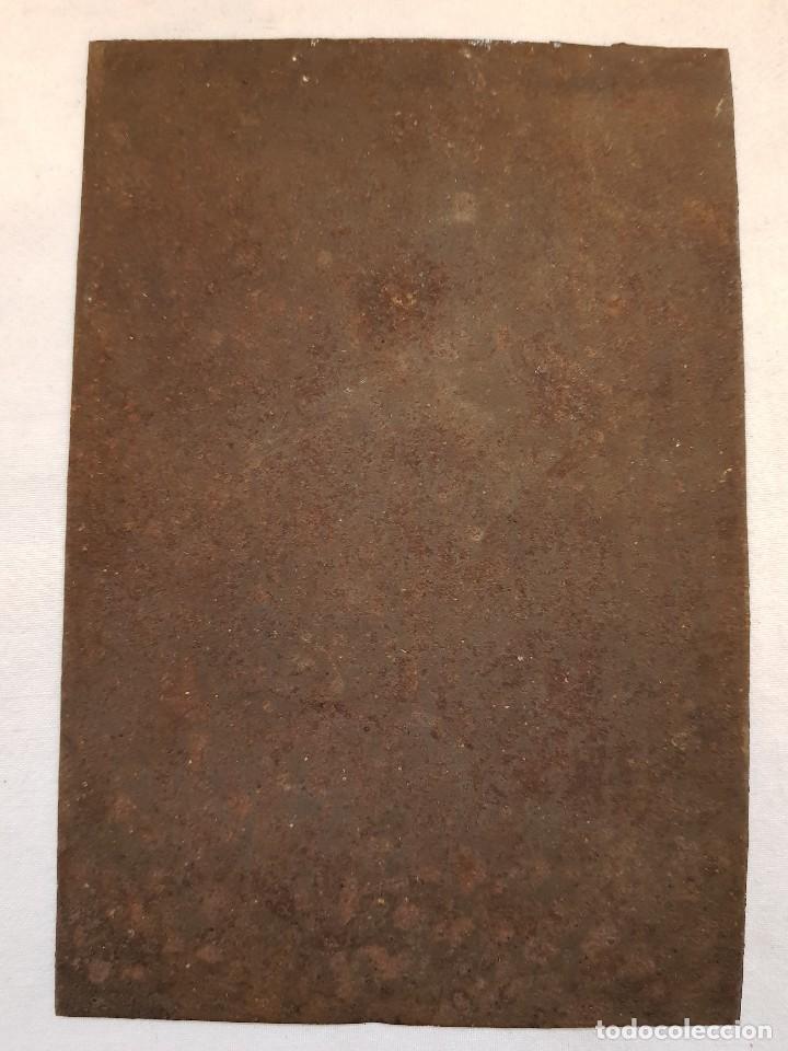 Arte: Óleo sobre hierro. Virgen siglo XVII - Foto 2 - 117868991