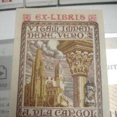 Arte: EX-LIBRIS J.PLA CARGOL - PORTAL DEL COL·LECCIONISTA *****. Lote 117902659