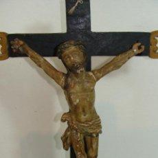 Arte: CRISTO TALLA EN MADERA . Lote 117902999