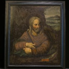 Arte: SANTO TOMÁS APÓSTOL. ÓLEO SOBRE LIENZO. ESCUELA ESPAÑOLA, SIGLO XVII.. Lote 117943095