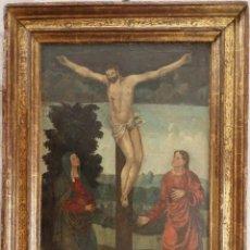 Arte: CALVARIO. OLEO SOBRE TABLA. ESCUELA FLAMENCA. SIGLO XVI.. Lote 117955635