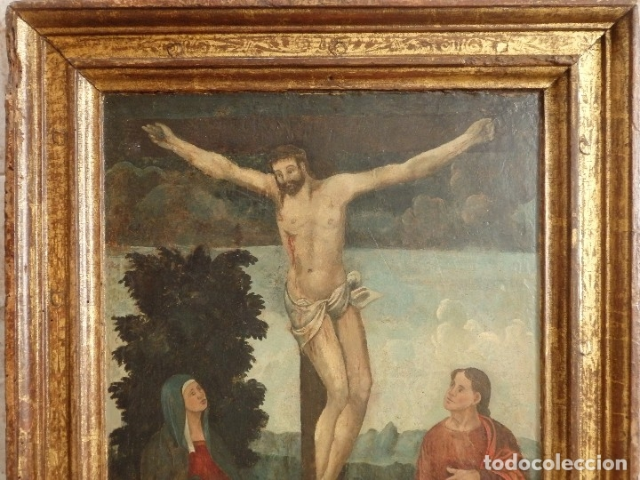 Arte: Calvario. Oleo sobre tabla. Escuela flamenca. Siglo XVI. - Foto 5 - 117955635