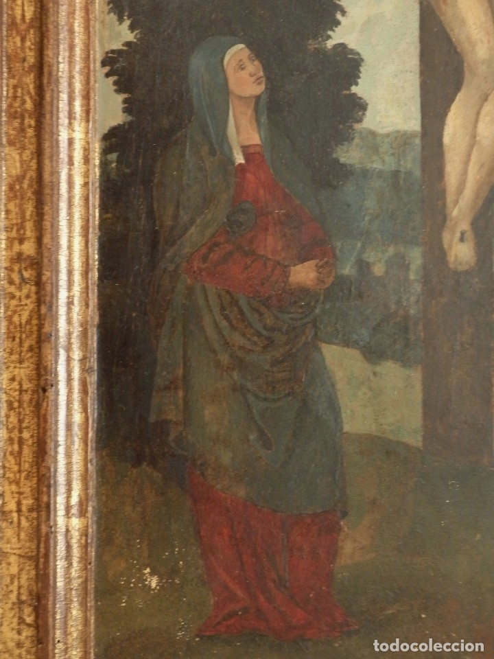 Arte: Calvario. Oleo sobre tabla. Escuela flamenca. Siglo XVI. - Foto 7 - 117955635