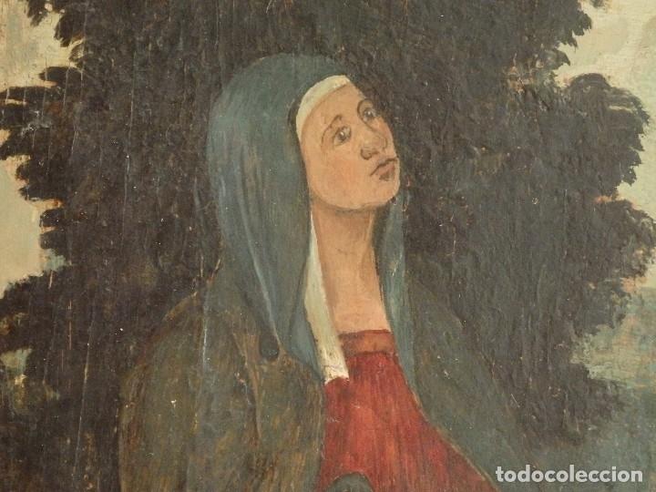 Arte: Calvario. Oleo sobre tabla. Escuela flamenca. Siglo XVI. - Foto 8 - 117955635