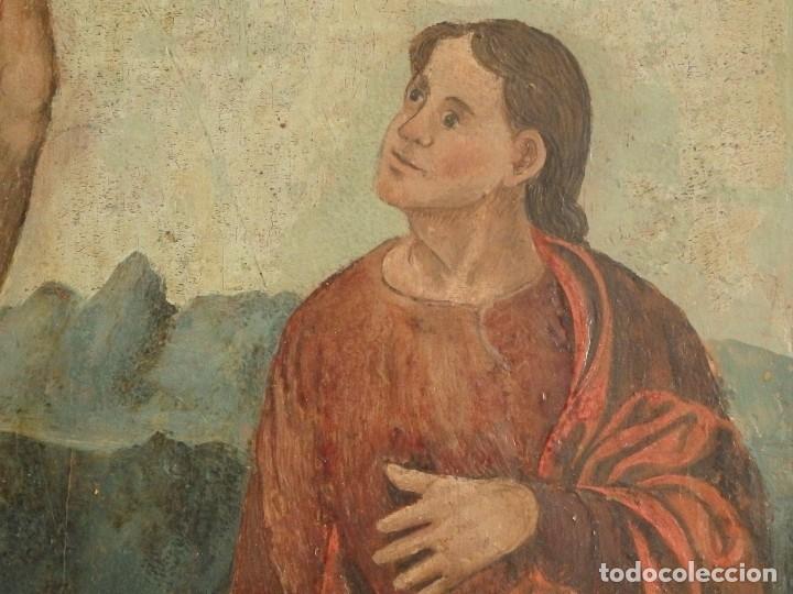 Arte: Calvario. Oleo sobre tabla. Escuela flamenca. Siglo XVI. - Foto 9 - 117955635