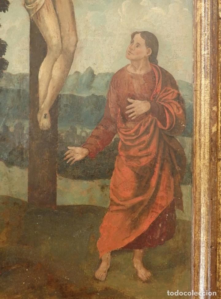 Arte: Calvario. Oleo sobre tabla. Escuela flamenca. Siglo XVI. - Foto 10 - 117955635